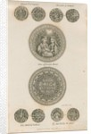 Tutbury - Plate of Medieval Coins by School English