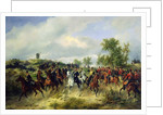 Prussian cavalry on expedition, c.19th by Carl Schulz