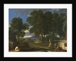Landscape with a Man washing his Feet at a Fountain, 1648 by Nicolas Poussin