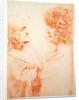 Two Heads in Profile by Leonardo da Vinci