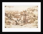 Arno Landscape, 5th August by Leonardo da Vinci