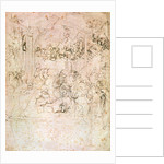 Composition sketch for The Adoration of the Magi by Leonardo da Vinci