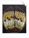 Seated Angels with Orbs in their Hands by Ridolfo di Arpo Guariento