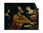 The Denial of St. Peter by Guercino