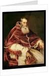 Portrait of Alessandro Farnese Pope Paul III by Titian