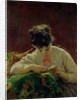 Young Woman Reading by Mose Bianchi