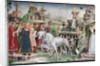 The Triumph of Minerva: March by Francesco del Cossa