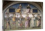 Lunette of Fortune and Temperance by Pietro Perugino