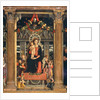 Virgin and Child with Angels, central panel from the Altarpiece of St. Zeno of Verona by Andrea Mantegna