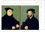 Double Portrait of Martin Luther and Philipp Melanchthon by Lucas