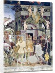 Borso d'Este, Prince of Ferrara, rendering justice: March from the Room of the Months by Francesco del Cossa
