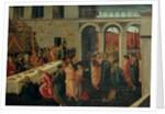 The Banquet of Ahasuerus by Jacopo del Sellaio