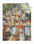 The Procession of the Magi, detail of the Cavaliers by Benozzo di Lese di Sandro Gozzoli