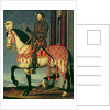 Equestrian portrait of Francis I of France by Francois Clouet