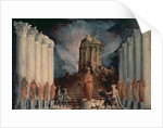 Destruction of the Temple of Jerusalem by Titus by Monsu Desiderio