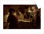 Supper with the Minstrel and his Lute by Gerrit van Honthorst