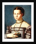 Portrait of a Young Girl Holding a Book by Agnolo Bronzino