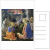 Adoration of the Child with SS. Hilary, Jerome, Mary Magdalene and Angels by Fra Filippo Lippi
