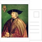 Emperor Maximilian I by Albrecht Dürer or Duerer
