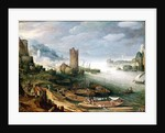 River Scene with a Ruined Tower by Paul Brill or Bril