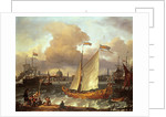 The Swedish Yacht 'Lejouet', in Amsterdam Harbour by Ludolf Backhuysen