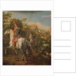 A Hussar on horseback by Bernardo Bellotto
