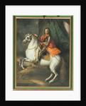 Equestrian portrait of Prince Eugene of Savoy by Johann-Gottfried Auerbach