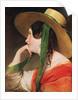 Girl in a Yellow Straw Hat by Friedrich von Amerling