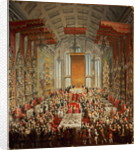 Coronation Banquet of Joseph II in Frankfurt by Martin II Mytens or Meytens