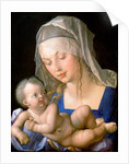 Virgin and child holding a half-eaten pear by Albrecht Dürer or Duerer