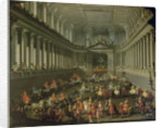 A Cavalcade in the Winter Riding School of the Vienna Hof to celebrate the defeat of the French army at Prague by Martin II Mytens or Meytens