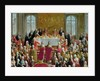 The Coronation Banquet of Joseph II, Emperor of Germany by Martin II Mytens or Meytens