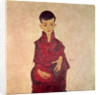 Rainerbub (Portrait of Herbert Rainer aged about 6 years) by Egon Schiele