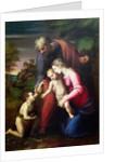 Holy Family with John the Baptist by Sanzio of Urbino Raphael