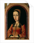 Joanna or Juana 'The Mad' of Castile daughter of Ferdinand II of Aragon and Isabella 'The Catholic' of Castile by Master of the Legend of St. Madeleine