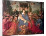 Garland of Roses Altarpiece by Albrecht Durer or Duerer
