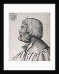 Profile portrait of Albrecht Durer by Erhard Schon