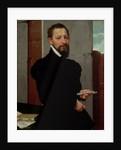 Giovanni Pietro Maffeis, Professor of Rhetoric at Genoa University and Secretary of the Republic by Giovanni Battista Moroni