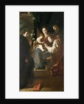 Mystical marriage of St. Catherine and the Christ Child with Peter the Martyr by Domenico Fetti or Feti