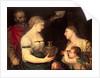 Allegory of Married life depicting the Gods Vesta, Hymen, Mars and Venus by Alessandro Varotari