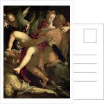Hercules, Deianeira and the centaur Nessus by Bartholomaeus Spranger