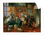The Smoking Room with Monkeys by Abraham Teniers