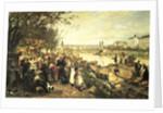 Fruit market in Schazel, near the Maria Theresa Bridge, Vienna by Alois Schonn