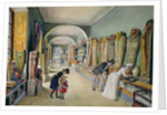 The Corridor and the last Cabinet of the Egyptian Collection in the Ambraser Collection of the Lower Belvedere by Carl Goebel
