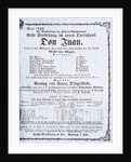 Poster advertising a performance of 'Don Juan' (Don Giovanni) by Wolfgang Amadeus Mozart May 1869 by Austrian School