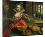 Allegory of Music (the Fluteplayer) by Dirk de Quade van Ravesteyn