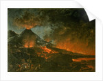 Vesuvius Erupting by Italian School