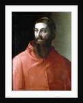 Cardinal Rudolfo Pio, Bishop of Faenza by Francesco de Rossi Salviati Cecchino