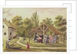 Afternoon tea at a tavern from the journal of Carl Baumann by Franz Paumgarrten