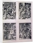 The 'Small Passion' series: The Betrayal of Christ; Christ before Annas; Christ before Caiaphas; the Mocking of Christ by Albrecht Dürer or Duerer